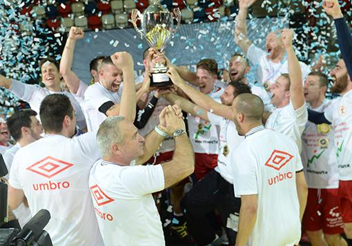חגיגה גדולה. ראשון לציון זוכה בגביע המדינה (באדיבות: עמית שיסל, ההתאחדות הישראלית)