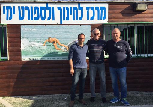 גילי אמיר, יורם ארנשטיין וגיל הורביץ, מאמן קרית ים